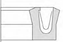 Reciprocating rod seal-Type VP